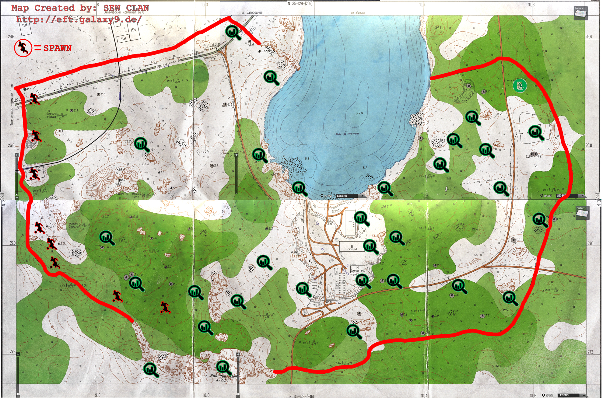Woods Map Tarkov Exits