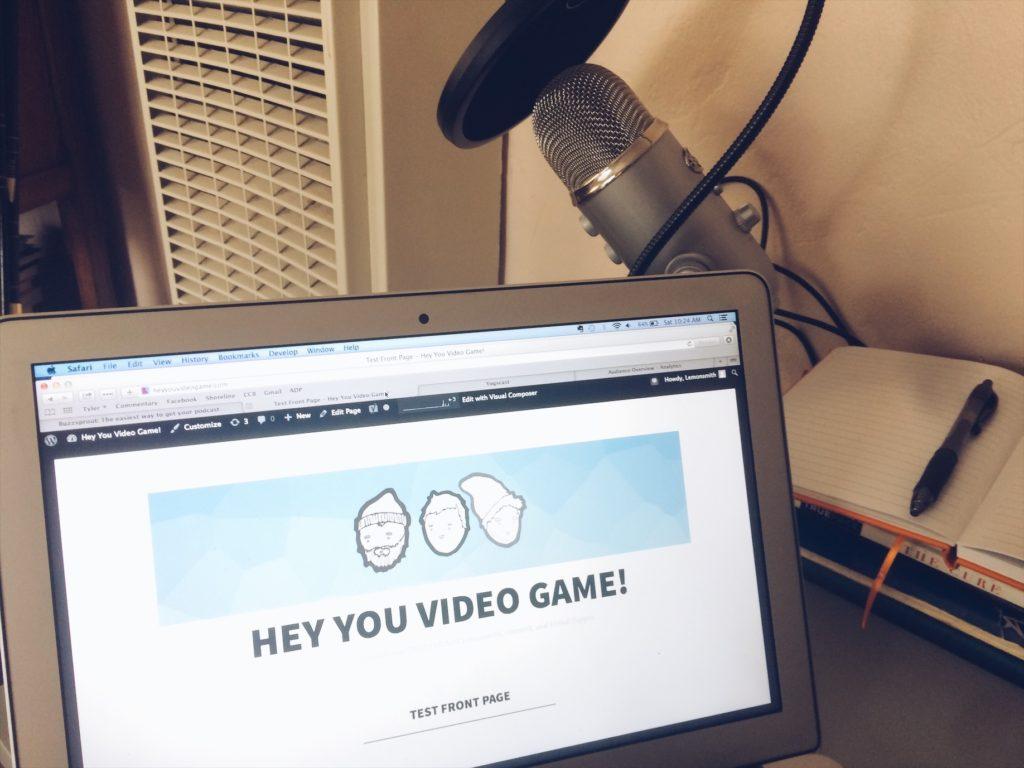 Hey you Video game website in progress