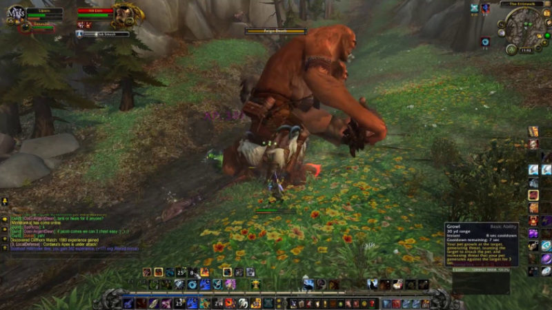 World of Warcraft MMO Grinding for XP