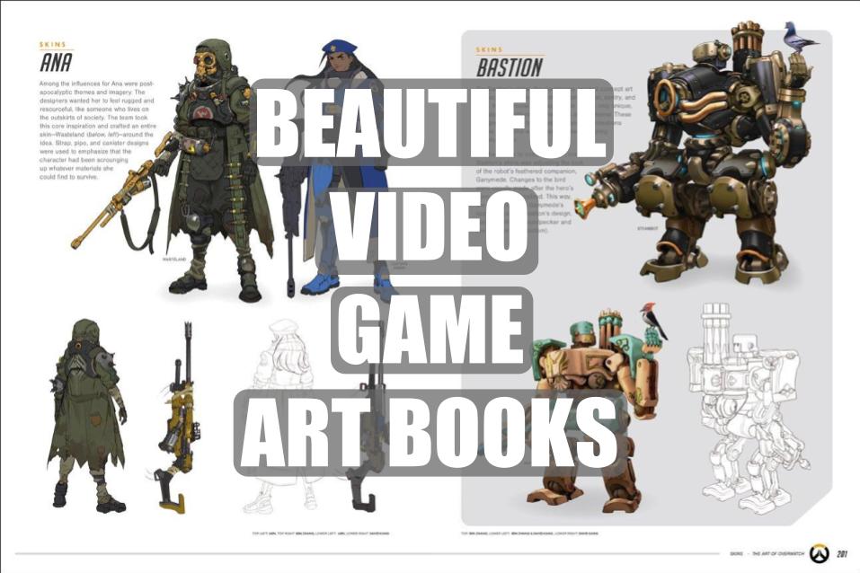 best video game art books