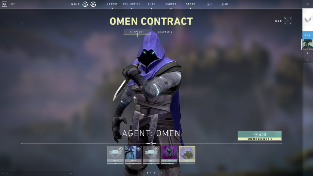 Omen Contract from Valorant FPS