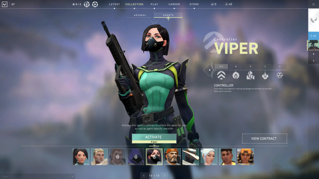 Viper Agent and her voice lines from Valorant